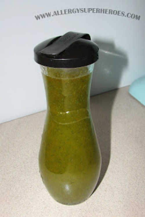 Allergy Superheroes Lemon Dill Salad Dressing