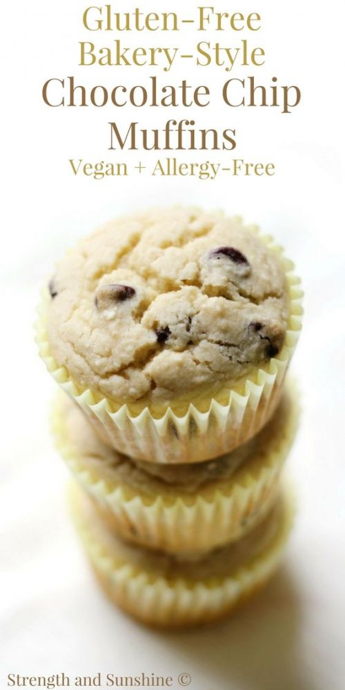 Gluten-Free Bakery-Style Chocolate Chip Muffins