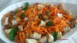 Spirialized Carrot Salad