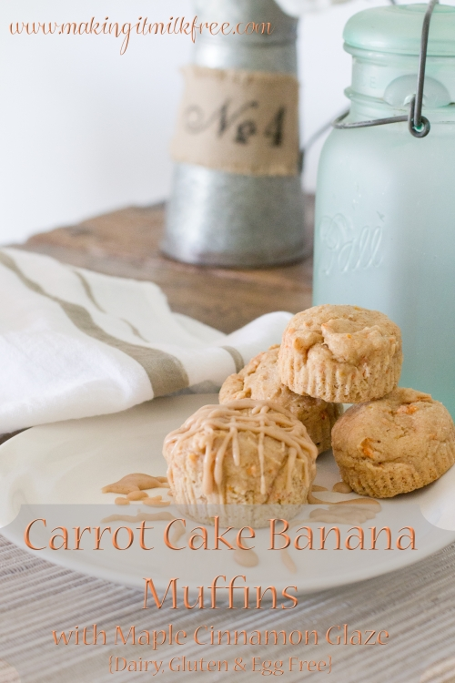 Carrot Cake Banana Muffins from Making It Milk Free