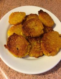 Pan fried Yuca Cakes