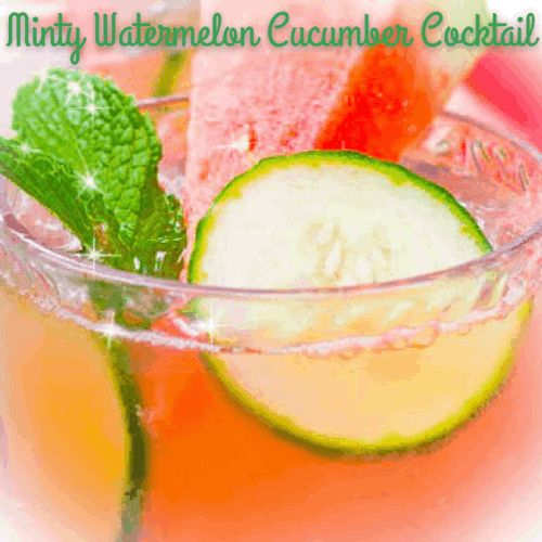 Minty Watermelon Cucumber Cocktail