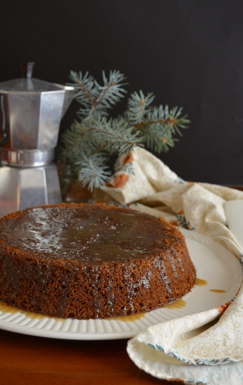 Salted Maple & Brown Sugar Date Cake