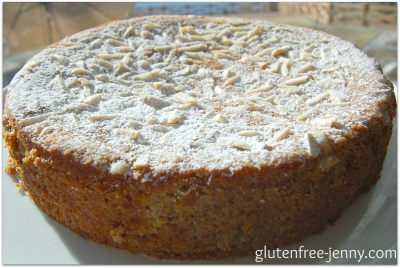 Gluten Free Lemon, Ricotta and Almond Flourless Cake