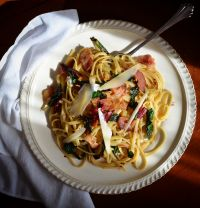 Linguine with Chard and Bacon