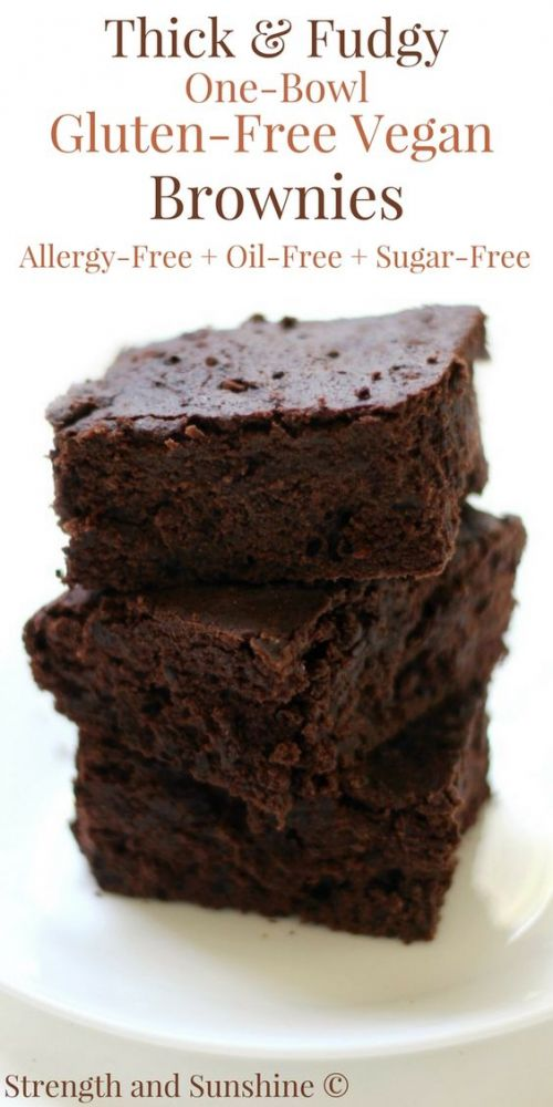 Thick & Fudgy One-Bowl, Gluten-Free, Vegan Brownies
