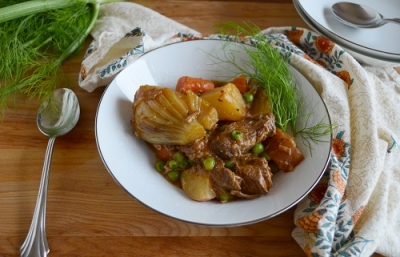 Spring Lamb Stew with Fennel